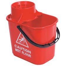 15ltr Bucket with Wringer Red