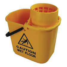 15ltr Bucket with Wringer Yellow
